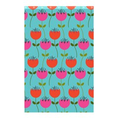 Tulips Floral Background Pattern Shower Curtain 48  X 72  (small)