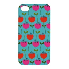 Tulips Floral Background Pattern Apple iPhone 4/4S Hardshell Case