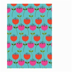 Tulips Floral Background Pattern Small Garden Flag (Two Sides)