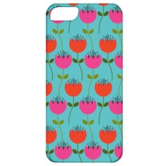 Tulips Floral Background Pattern Apple iPhone 5 Classic Hardshell Case
