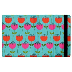Tulips Floral Background Pattern Apple iPad 3/4 Flip Case