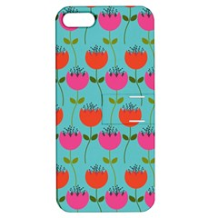 Tulips Floral Background Pattern Apple Iphone 5 Hardshell Case With Stand