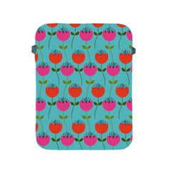 Tulips Floral Background Pattern Apple iPad 2/3/4 Protective Soft Cases