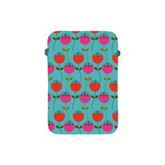 Tulips Floral Background Pattern Apple iPad Mini Protective Soft Cases