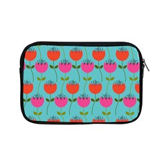 Tulips Floral Background Pattern Apple Ipad Mini Zipper Cases