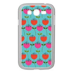 Tulips Floral Background Pattern Samsung Galaxy Grand DUOS I9082 Case (White)