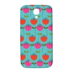 Tulips Floral Background Pattern Samsung Galaxy S4 I9500/I9505  Hardshell Back Case