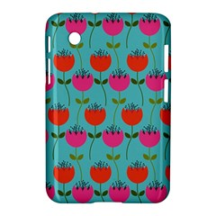 Tulips Floral Background Pattern Samsung Galaxy Tab 2 (7 ) P3100 Hardshell Case