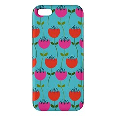 Tulips Floral Background Pattern Iphone 5s/ Se Premium Hardshell Case