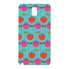 Tulips Floral Background Pattern Samsung Galaxy Note 3 N9005 Hardshell Back Case
