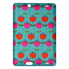 Tulips Floral Background Pattern Amazon Kindle Fire HD (2013) Hardshell Case