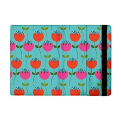 Tulips Floral Background Pattern iPad Mini 2 Flip Cases
