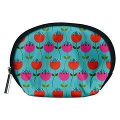 Tulips Floral Background Pattern Accessory Pouches (Medium)
