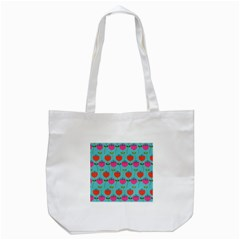 Tulips Floral Background Pattern Tote Bag (White)