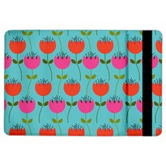 Tulips Floral Background Pattern iPad Air 2 Flip