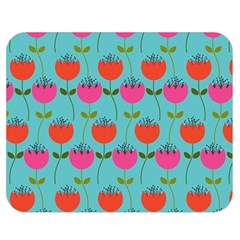 Tulips Floral Background Pattern Double Sided Flano Blanket (medium)