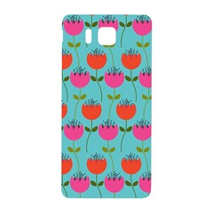Tulips Floral Background Pattern Samsung Galaxy Alpha Hardshell Back Case