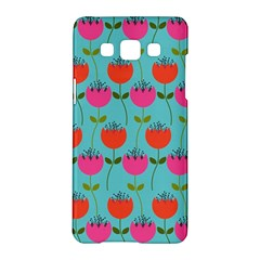 Tulips Floral Background Pattern Samsung Galaxy A5 Hardshell Case