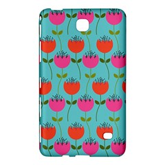 Tulips Floral Background Pattern Samsung Galaxy Tab 4 (8 ) Hardshell Case