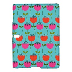 Tulips Floral Background Pattern Samsung Galaxy Tab S (10 5 ) Hardshell Case