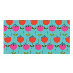Tulips Floral Background Pattern Satin Shawl