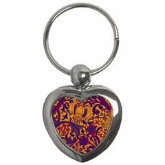 Floral pattern Key Chains (Heart)