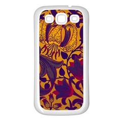 Floral Pattern Samsung Galaxy S3 Back Case (white)