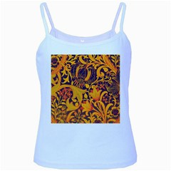 Floral pattern Baby Blue Spaghetti Tank