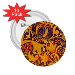 Floral pattern 2.25  Buttons (10 pack)