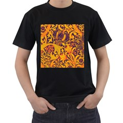 Floral pattern Men s T-Shirt (Black)