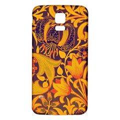 Floral Pattern Samsung Galaxy S5 Back Case (white)