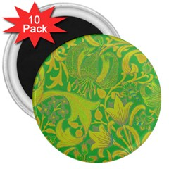 Floral pattern 3  Magnets (10 pack)