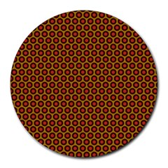 Lunares Pattern Circle Abstract Pattern Background Round Mousepads