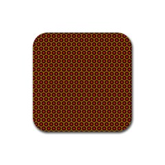 Lunares Pattern Circle Abstract Pattern Background Rubber Square Coaster (4 pack)