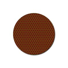 Lunares Pattern Circle Abstract Pattern Background Rubber Coaster (Round)