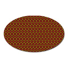 Lunares Pattern Circle Abstract Pattern Background Oval Magnet