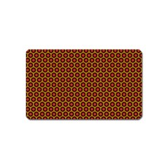 Lunares Pattern Circle Abstract Pattern Background Magnet (Name Card)