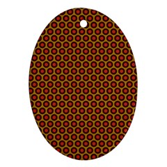 Lunares Pattern Circle Abstract Pattern Background Oval Ornament (Two Sides)