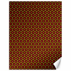 Lunares Pattern Circle Abstract Pattern Background Canvas 12  X 16
