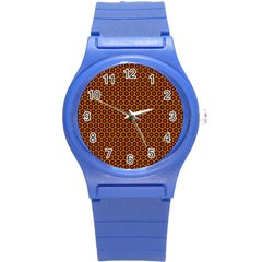 Lunares Pattern Circle Abstract Pattern Background Round Plastic Sport Watch (S)