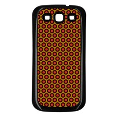 Lunares Pattern Circle Abstract Pattern Background Samsung Galaxy S3 Back Case (Black)