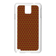 Lunares Pattern Circle Abstract Pattern Background Samsung Galaxy Note 3 N9005 Case (White)