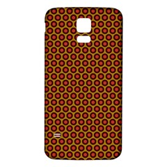 Lunares Pattern Circle Abstract Pattern Background Samsung Galaxy S5 Back Case (White)