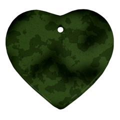 Vintage Camouflage Military Swatch Old Army Background Ornament (Heart)