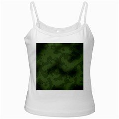 Vintage Camouflage Military Swatch Old Army Background White Spaghetti Tank