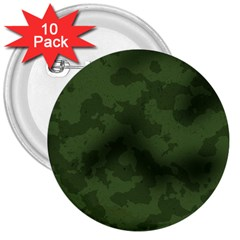 Vintage Camouflage Military Swatch Old Army Background 3  Buttons (10 pack)