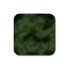 Vintage Camouflage Military Swatch Old Army Background Rubber Square Coaster (4 Pack)