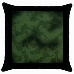 Vintage Camouflage Military Swatch Old Army Background Throw Pillow Case (black)