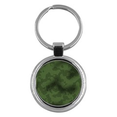 Vintage Camouflage Military Swatch Old Army Background Key Chains (Round)