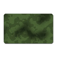 Vintage Camouflage Military Swatch Old Army Background Magnet (Rectangular)